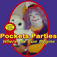 Pockets the Clown children birthday party clowns for hire in canada